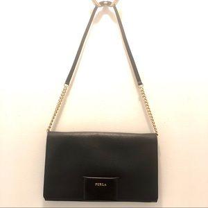 FURLA xl leather clutch / shoulder bag